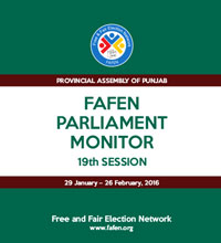 FAFEN Parliament Monitor Provincial Assembly of Punjab 19th Session