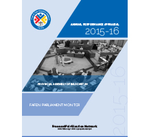 FAFEN Parliament Monitor Balochistan Assembly Annual Report 2015-16 Final