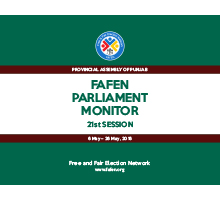 FAFEN Parliament Monitor Provincial Assembly of Punjab 21st Session Report 1