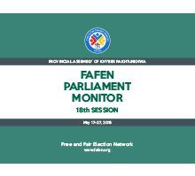 FAFEN Parliament Monitor Provincial Assembly of KP 18th Session Report