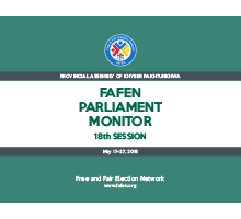 FAFEN Parliament Monitor KP Assembly 18th Session Report 1