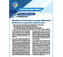Attendance of lawmakers, average sitting time declined as compared to three previous years