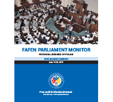 FAFEN Parliament Monitor Punjab Assembly Budget Session