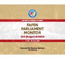 FAFEN Parliament Monitor Sindh Assembly-25th Budget Session Report
