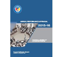 FAFEN Parliament Monitor Provincial Assembly of KP Annual Report 2015-16