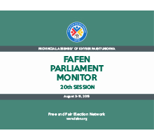 FAFEN Parliament Monitor 20th Session Report - KP Assembly 1