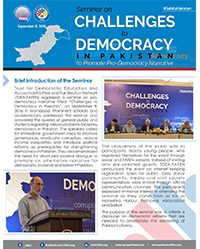FAFEN Organizes Seminar on Challenges to Democracy