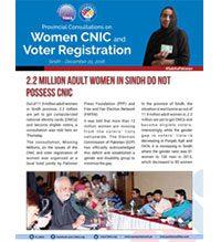 2.2 Million Adult Women in Sindh Do Not Possess CNIC