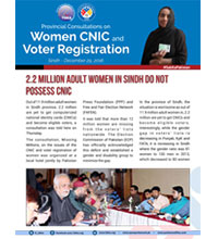 2.2 Million Adult Women in Sindh Do Not Possess CNIC