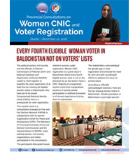 Every Fourth Eligible Woman Voter in Balochistan Not on Voters' Lists
