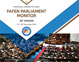 FAFEN Parliament Monitor Provincial Assembly of Sindh 28th Session Report