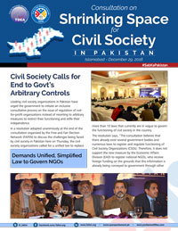 Civil Society Calls for End to Govt's Arbitrary Controls