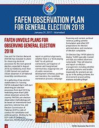 FAFEN Election Observation Plan General Election 2018