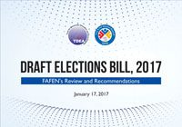 FAFEN's Review and Recommendations Draft Elections Bill, 2017