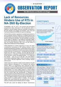 Lack of Resources Hinders Use of RTS in NA-260 By-Election