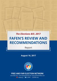 FAFEN Review and Recommendations on Elections Bill 2017