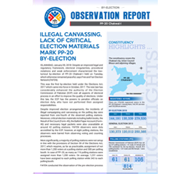 Illegal Canvassing, Lack of Critical Election Materials Mark PP-20 By-Election