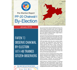 FAFEN to Observe Chakwal By-Election with 48 Trained Citizen-Observers