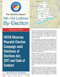 NA-154 Lodhran By-Election: FAFEN Observes Peaceful Election Campaign amid Violations of Elections Act, 2017 and Code of Conduct