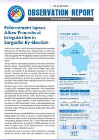 Enforcement lapses Allow Procedural Irregularities in Sargodha By-Election