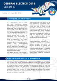 FAFEN Releases Fourth Update on Election and Political Environment Before GE-2018