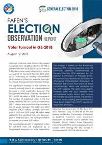 FAFEN'S Analysis of Voter Turnout in GE-2018