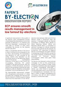 Results Management Improves in Low Turnout By-Elections