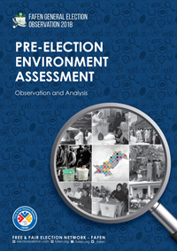 FAFEN General Election Observation 2018: Pre-Election Environment Assessment