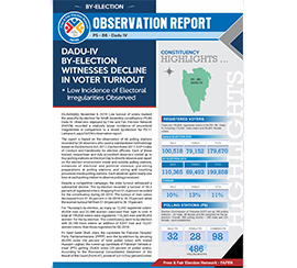 Dadu-IV By-Election Witnesses Decline in Voter Turnout