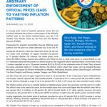 Arbitrary Enforcement of Official Prices Leads to Varying Inflation Patterns